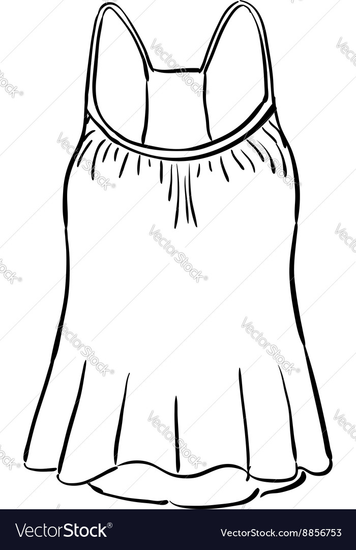 Racerback tank top sketch vector image