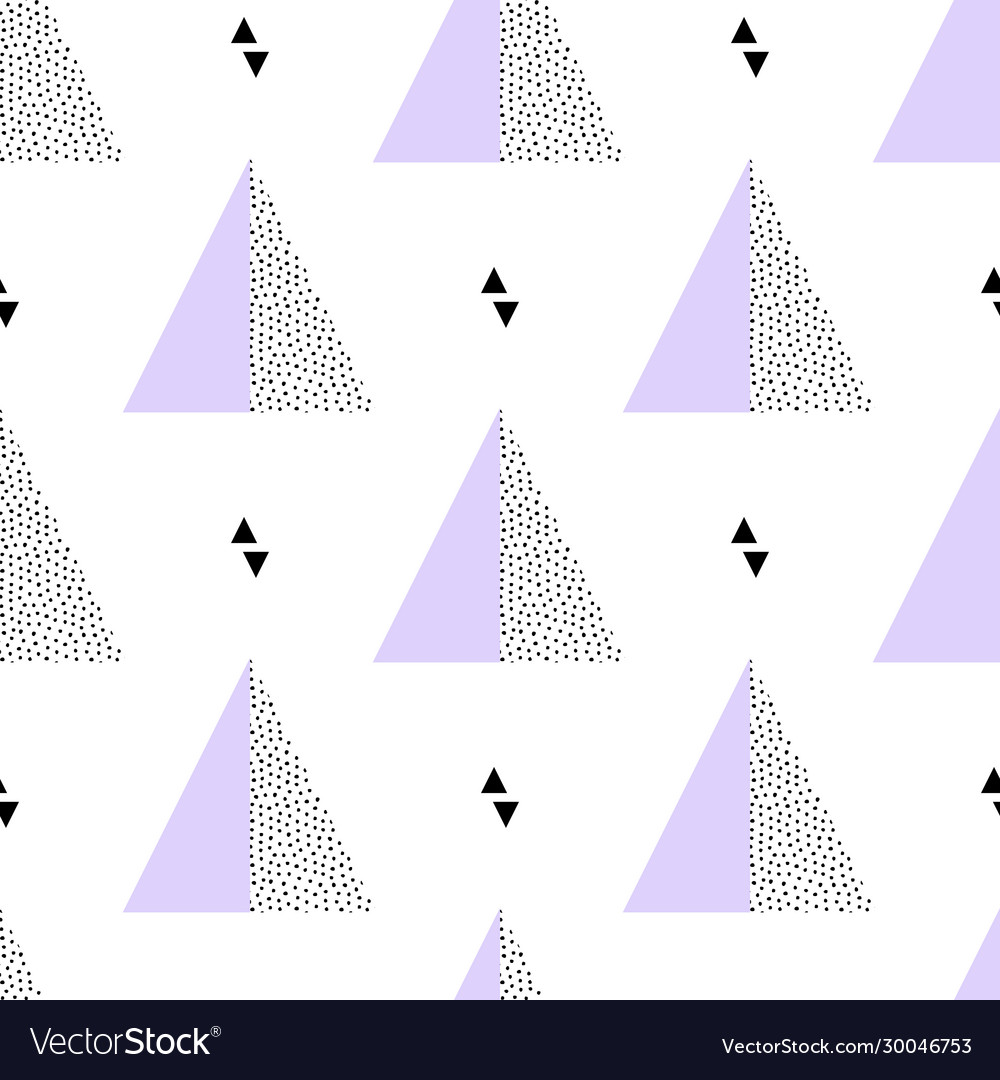 Seamless retro memphis pattern with triangle