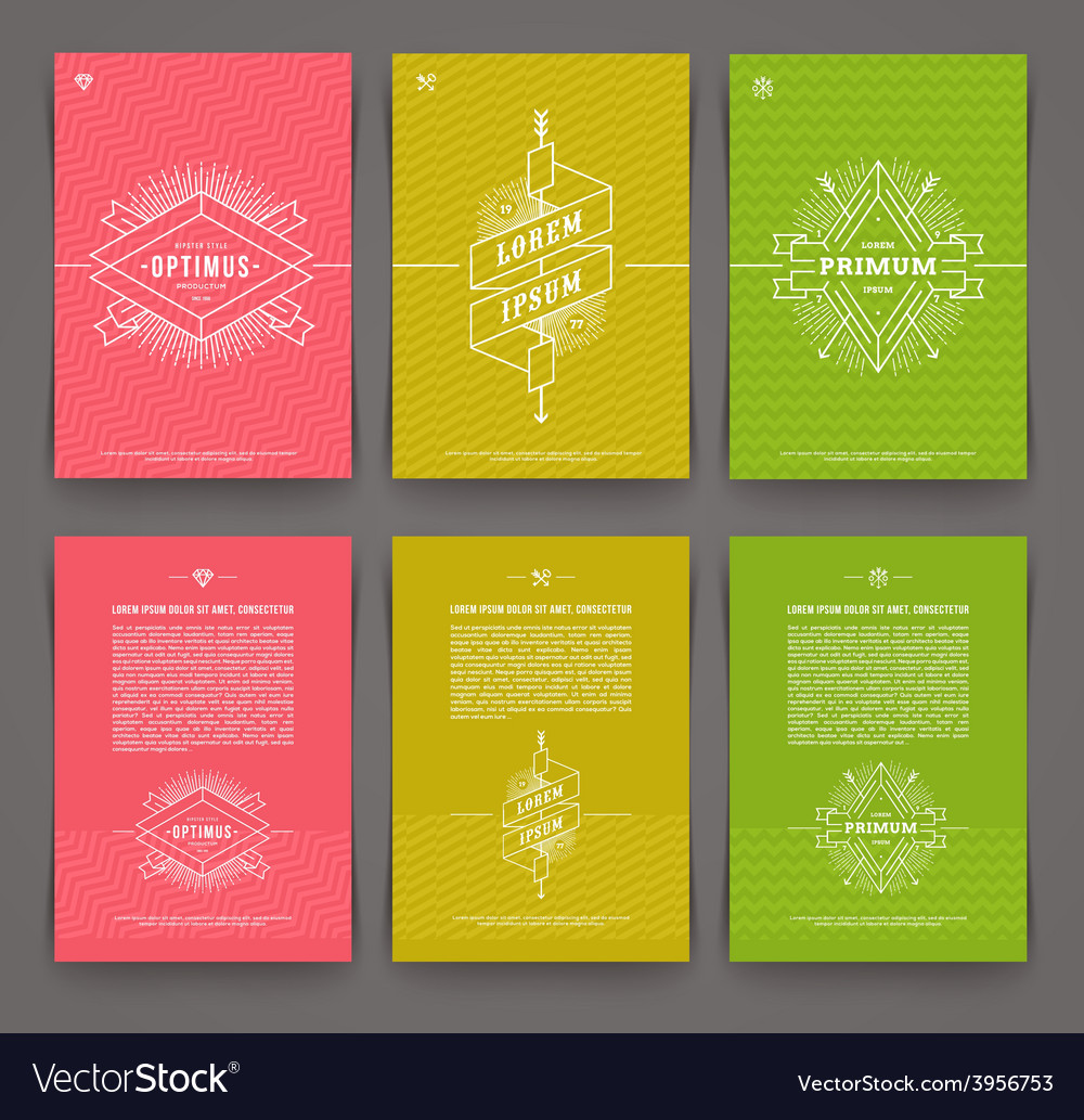 Set abstract template flyer page design