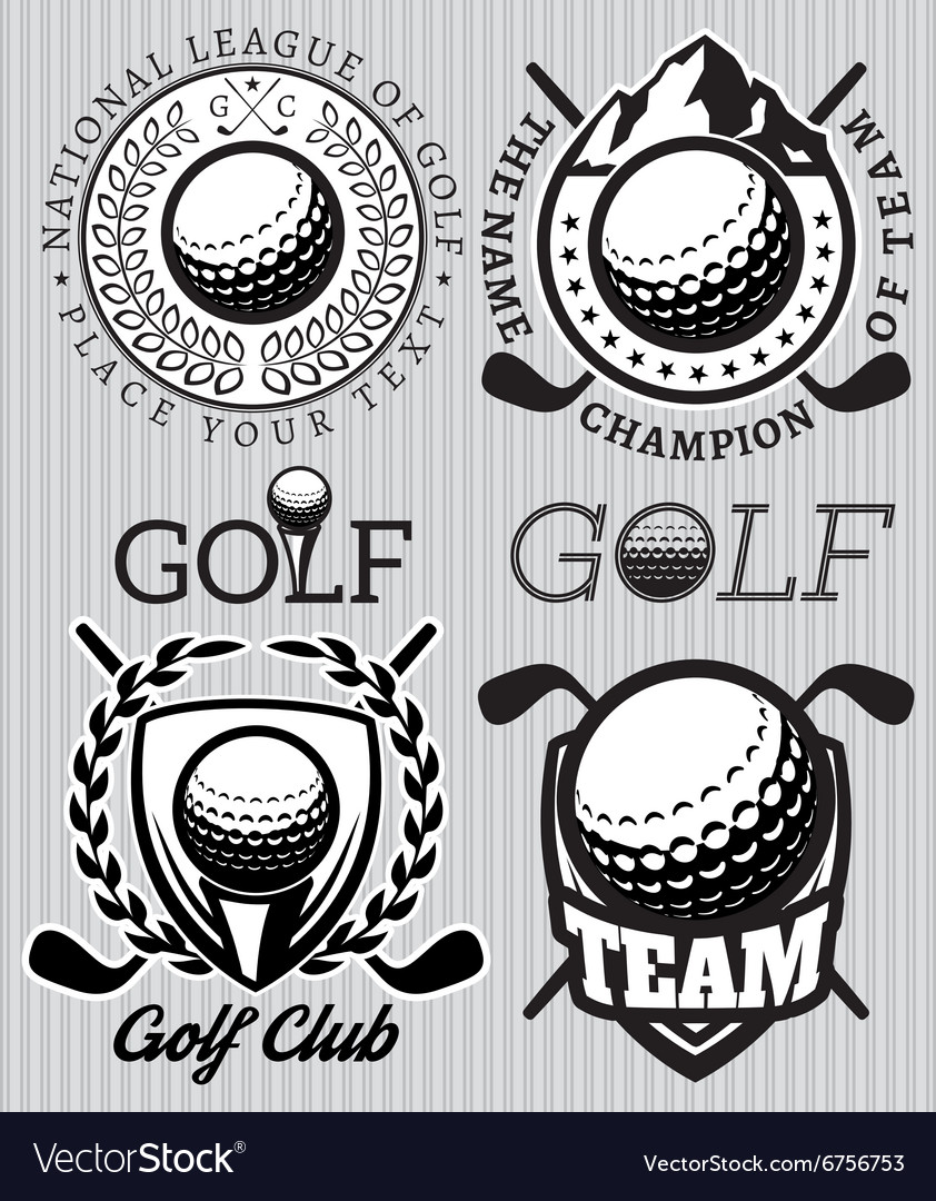 Set of patterns badges for golf