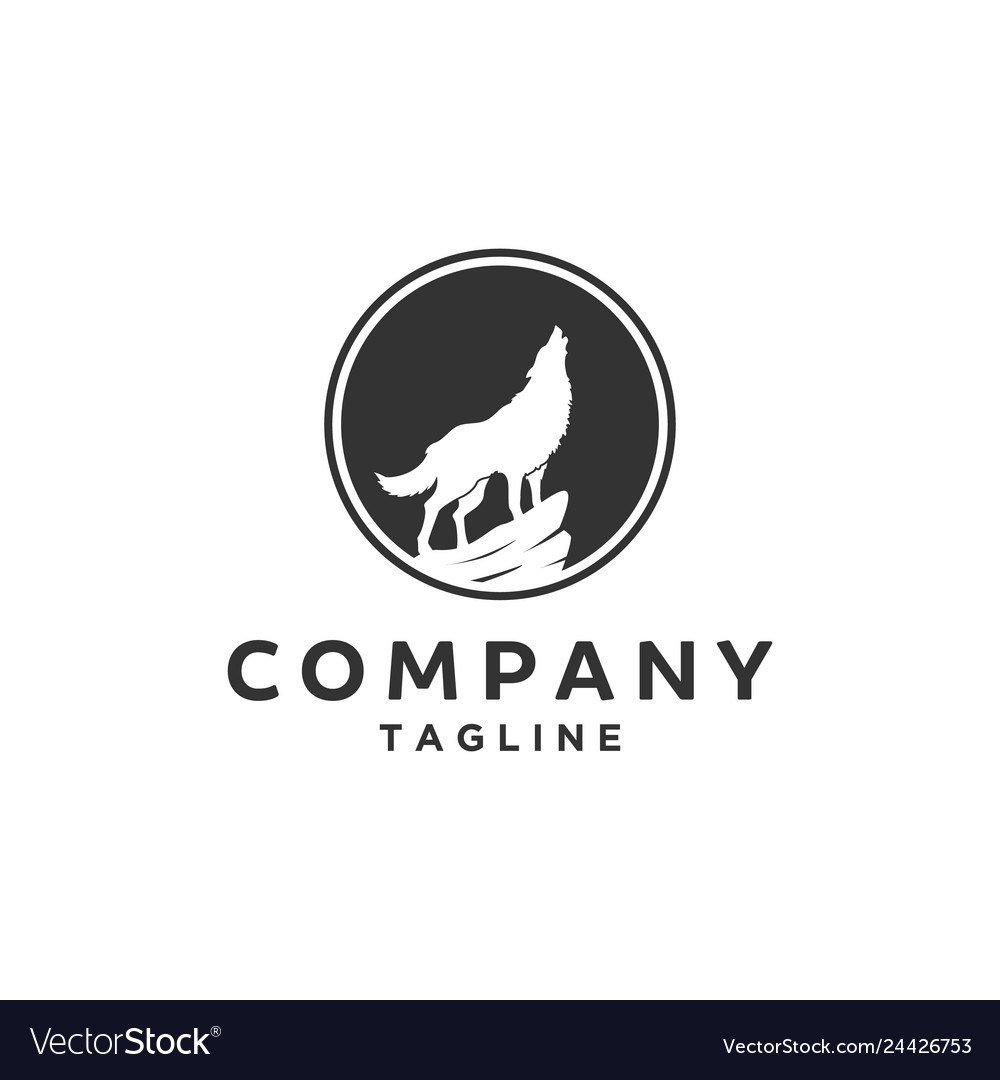 Silhouette of wolf logo