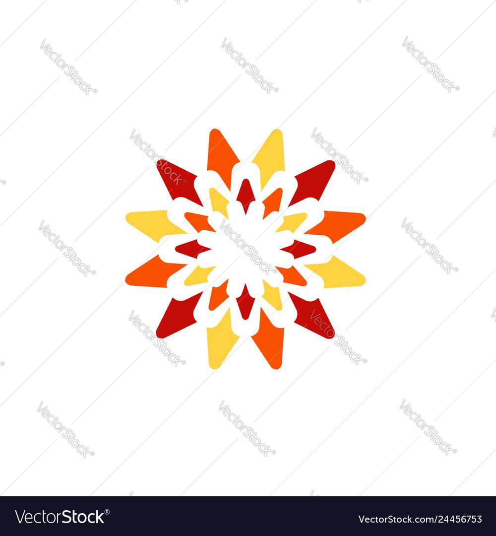 Sun flower logo symbol icon design