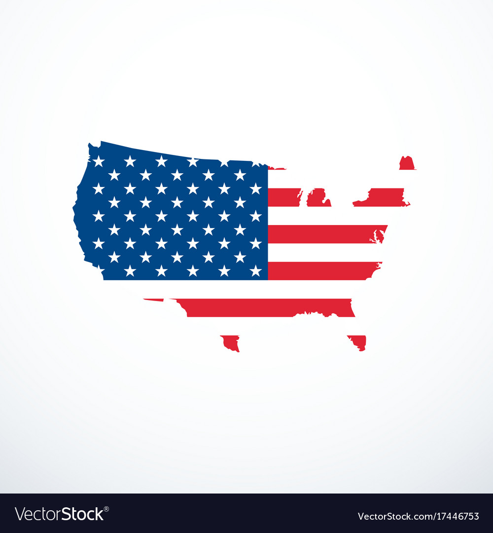Usa map icon Royalty Free Vector Image   VectorStock