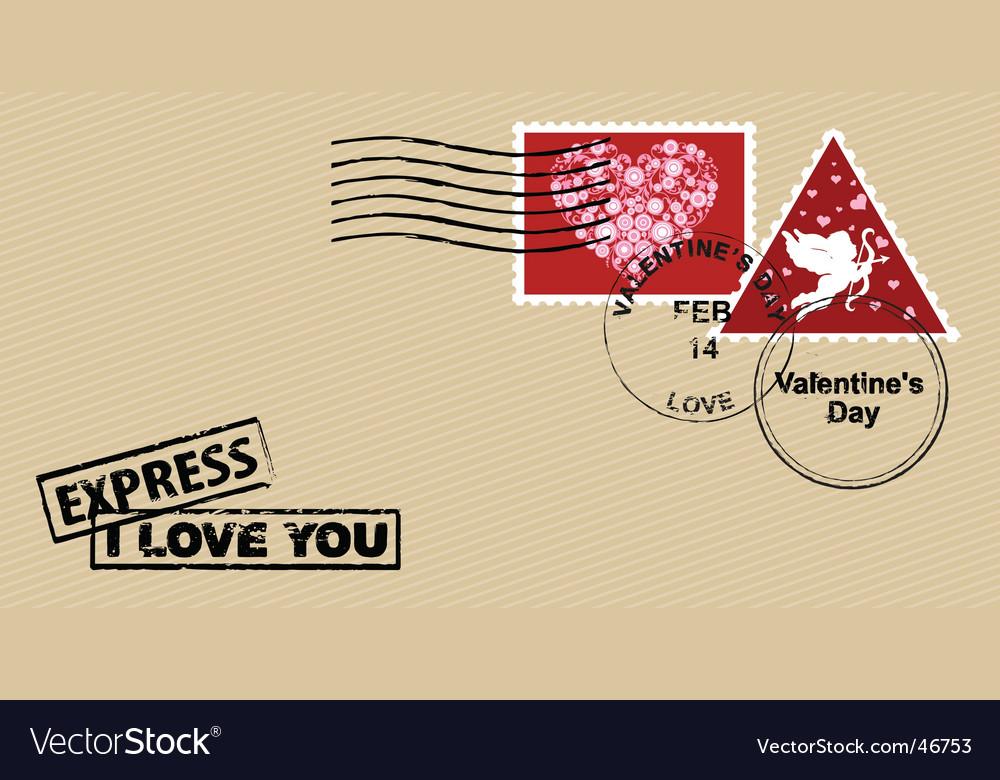Valentine's day envelope vector image