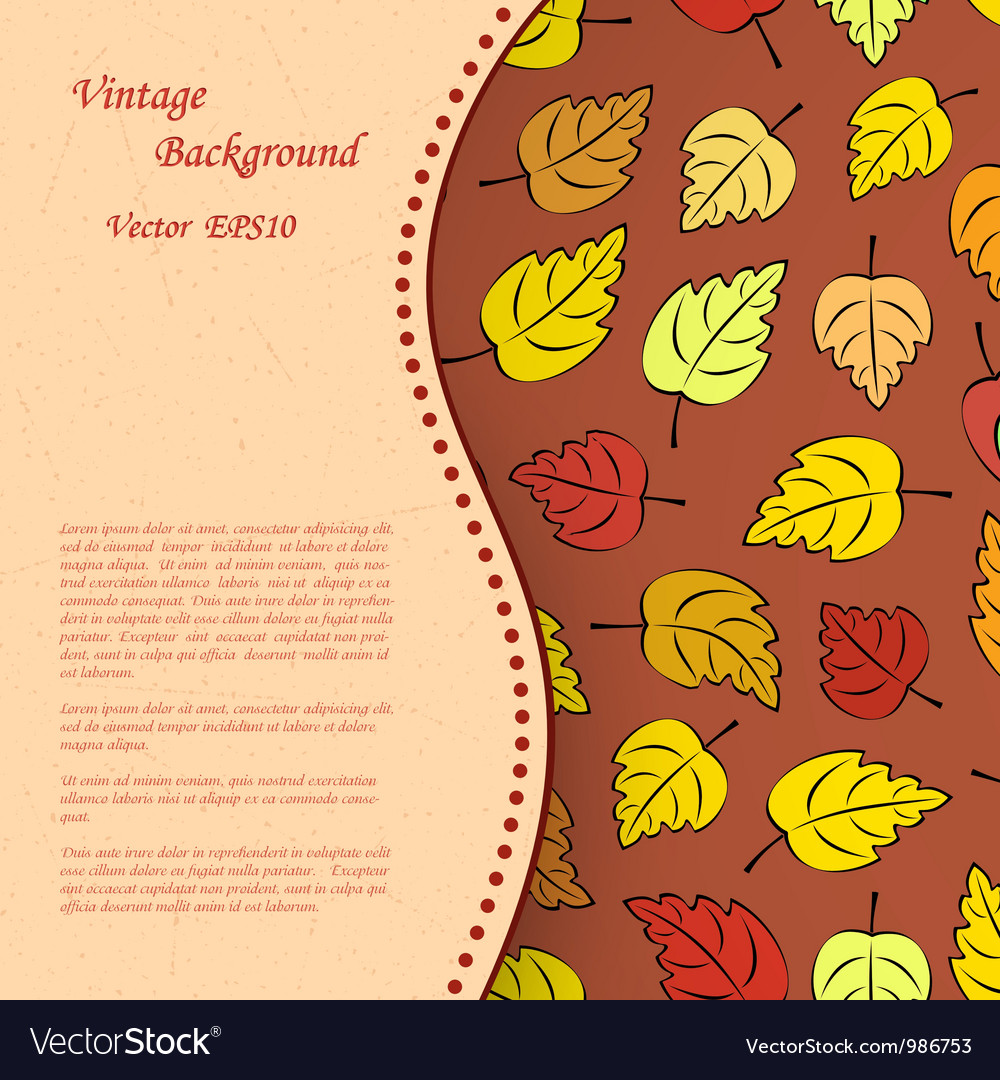 Vintage background with autumn leafs