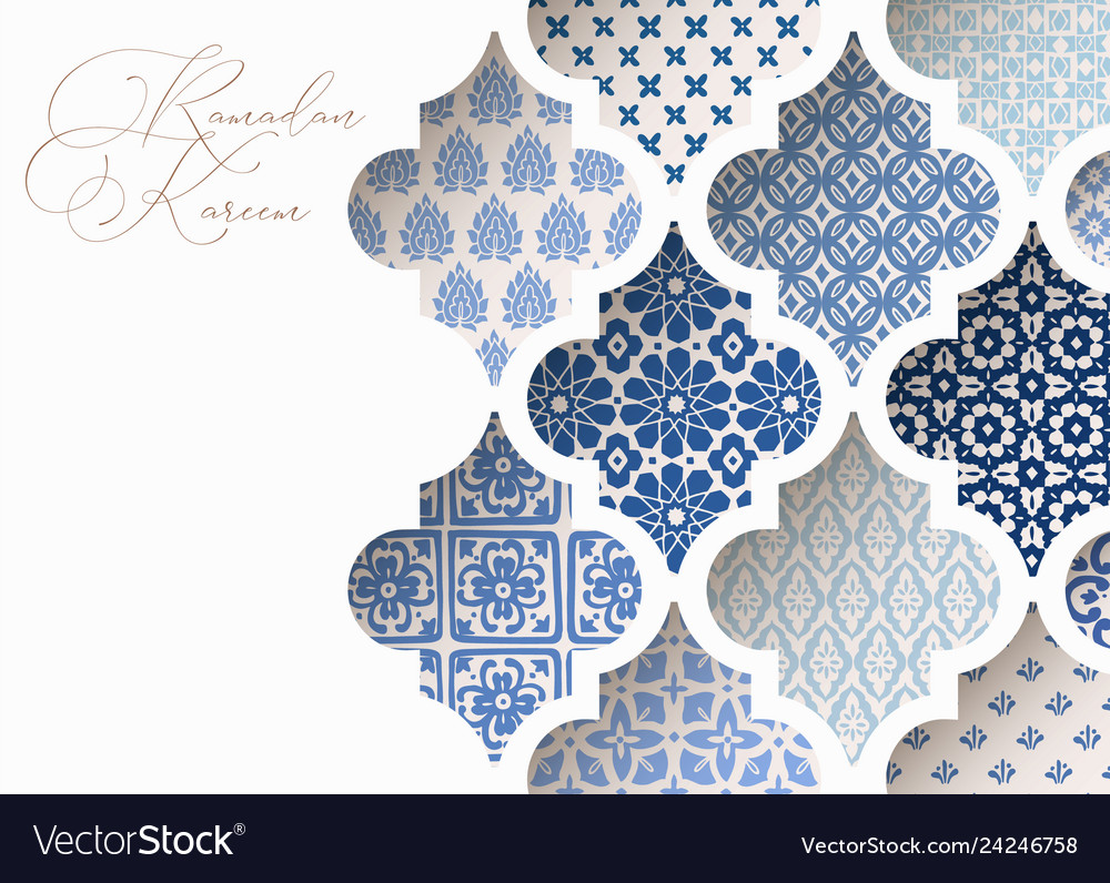 Arabic Tiles Patterns Vector Image