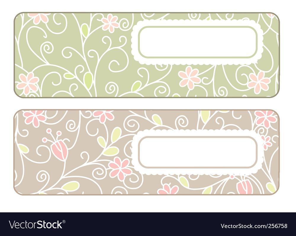 cute banners royalty free vector image vectorstock