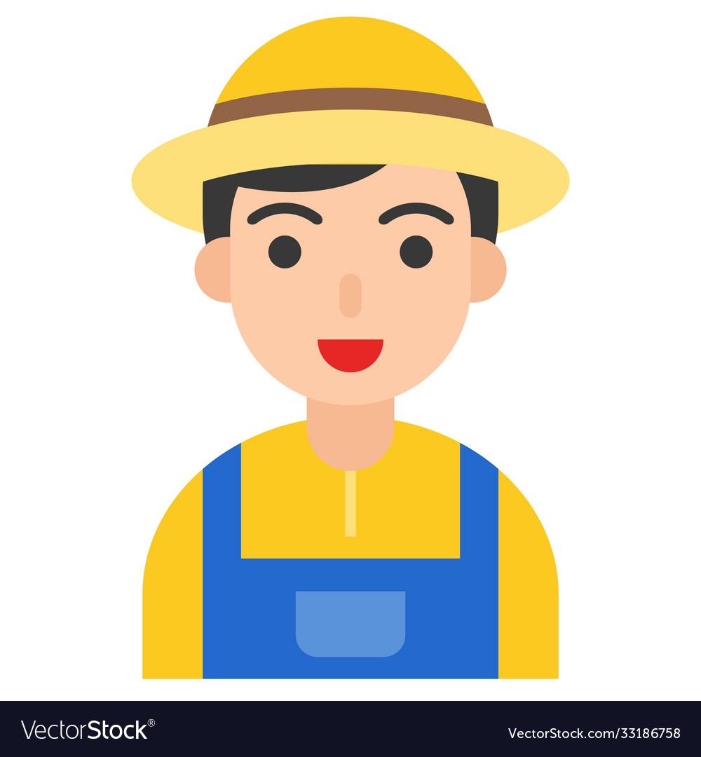 Farmer icon profession and job