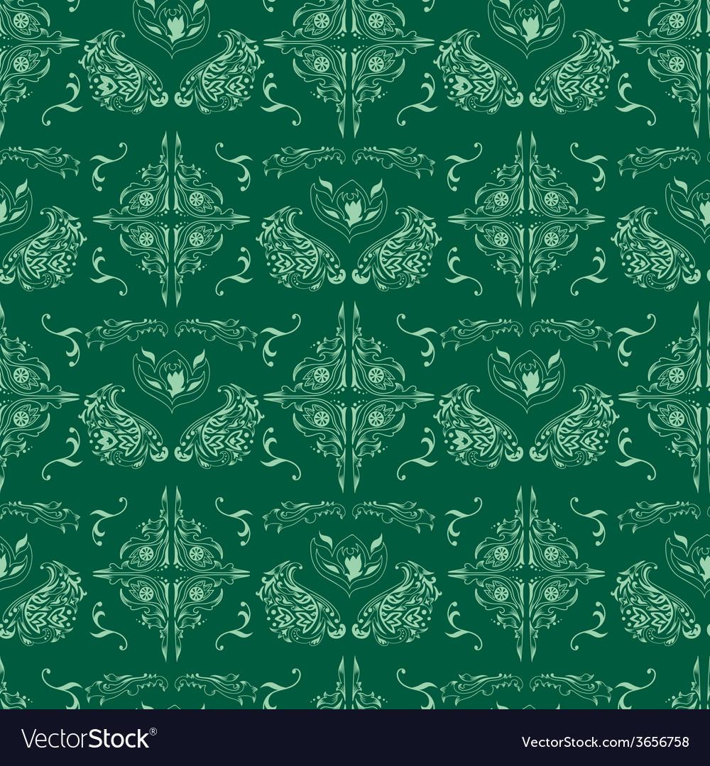 Green islamic pattern