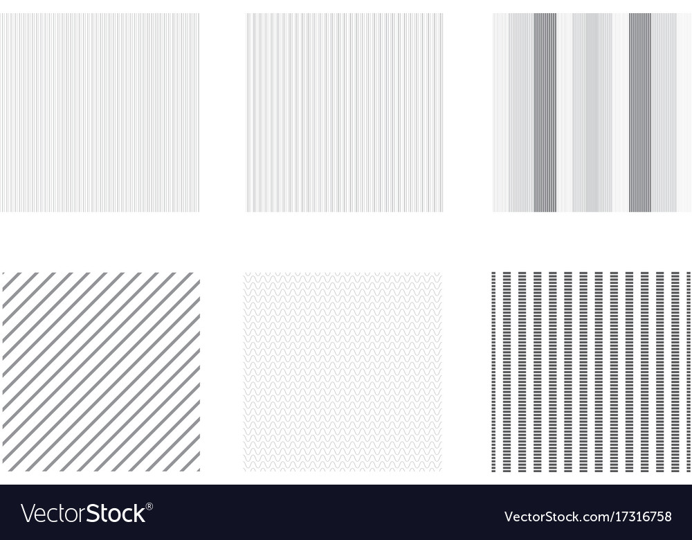 Set of abstract line seamless pattern black and vector image