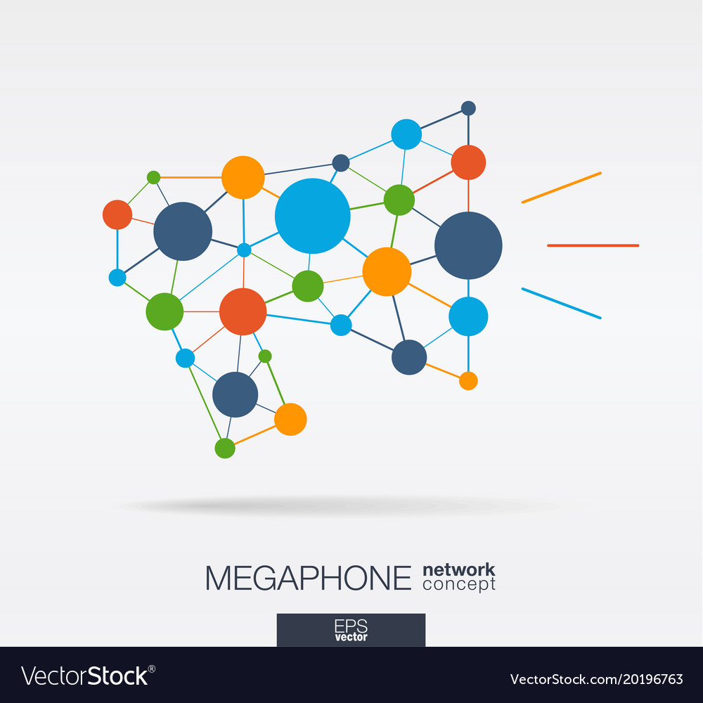 Abstract social media market background network