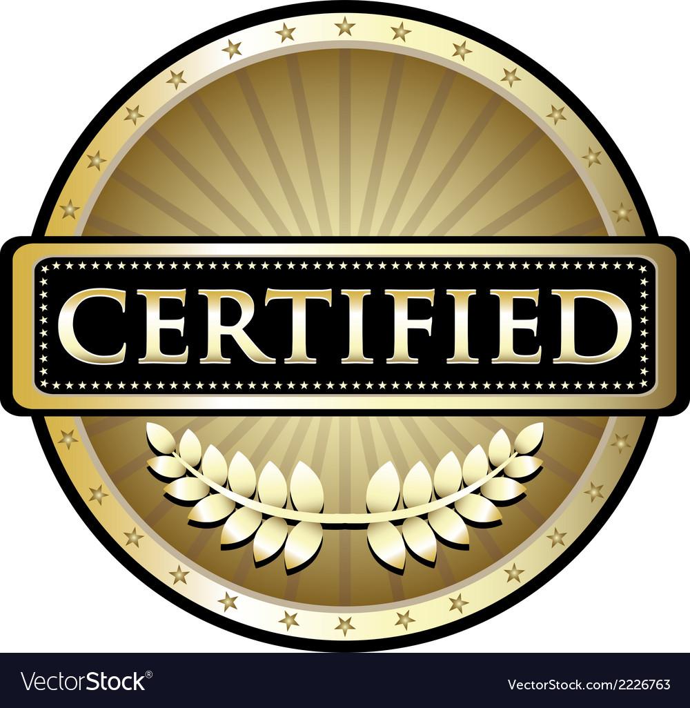 Certified Gold Emblem
