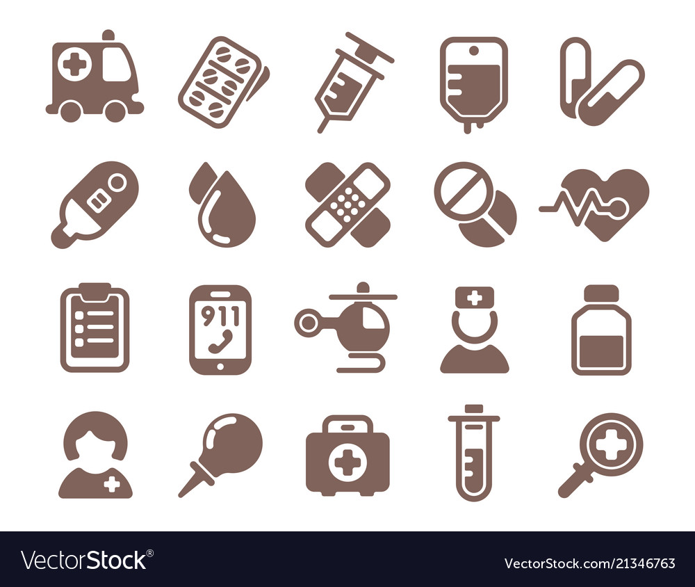 Health medical emergency icons healthcare
