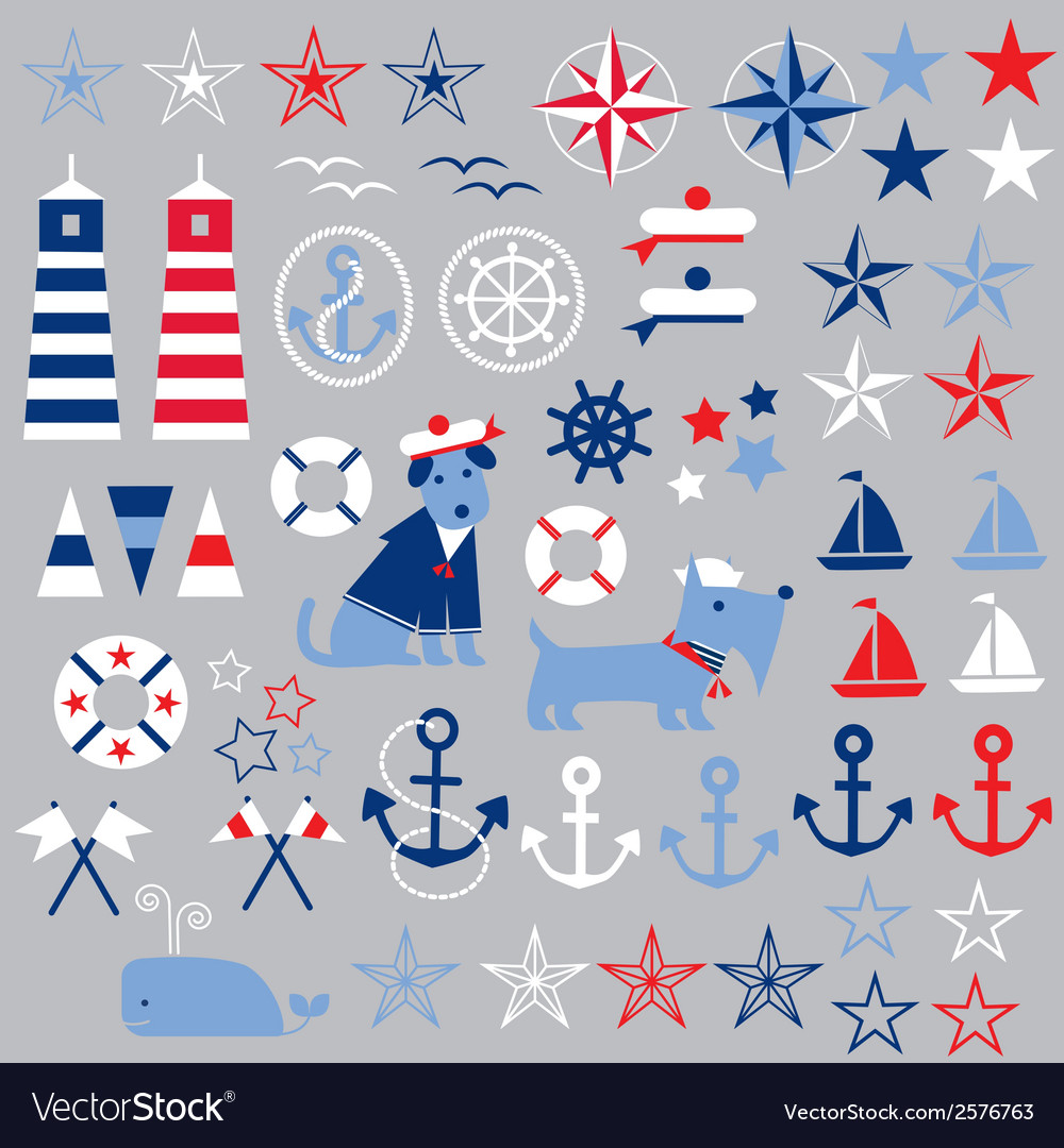 nautical clipart royalty free vector image vectorstock rh vectorstock com free nautical clipart borders free nautical clip art borders