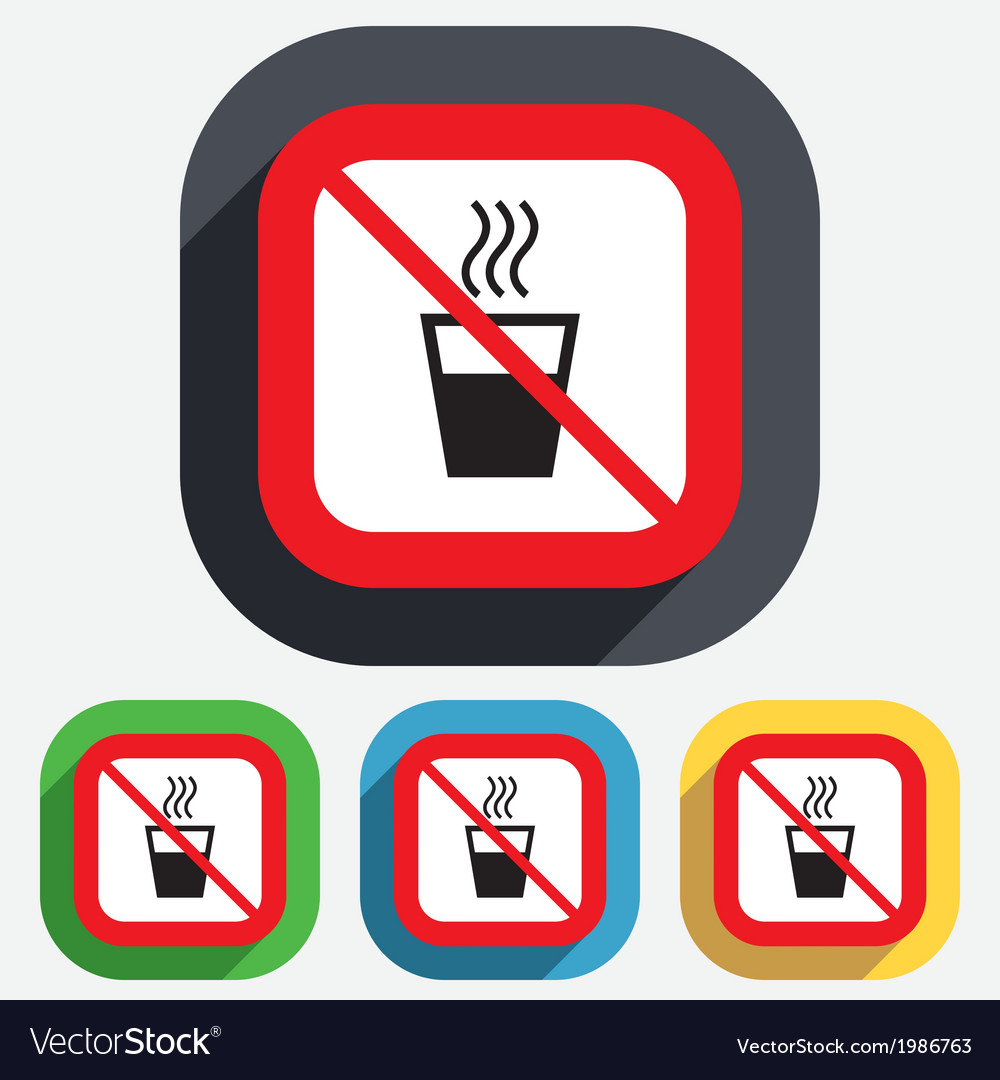 No Hot Water >> No Hot Water Sign Icon Hot Drink Symbol