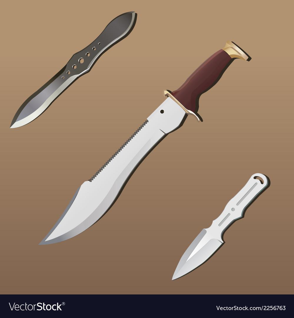 Realistic weapon set - part 2 vector image