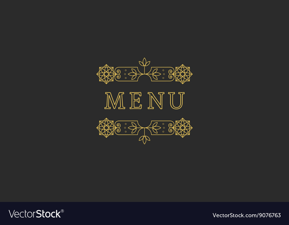 Restaurant Menu Headline