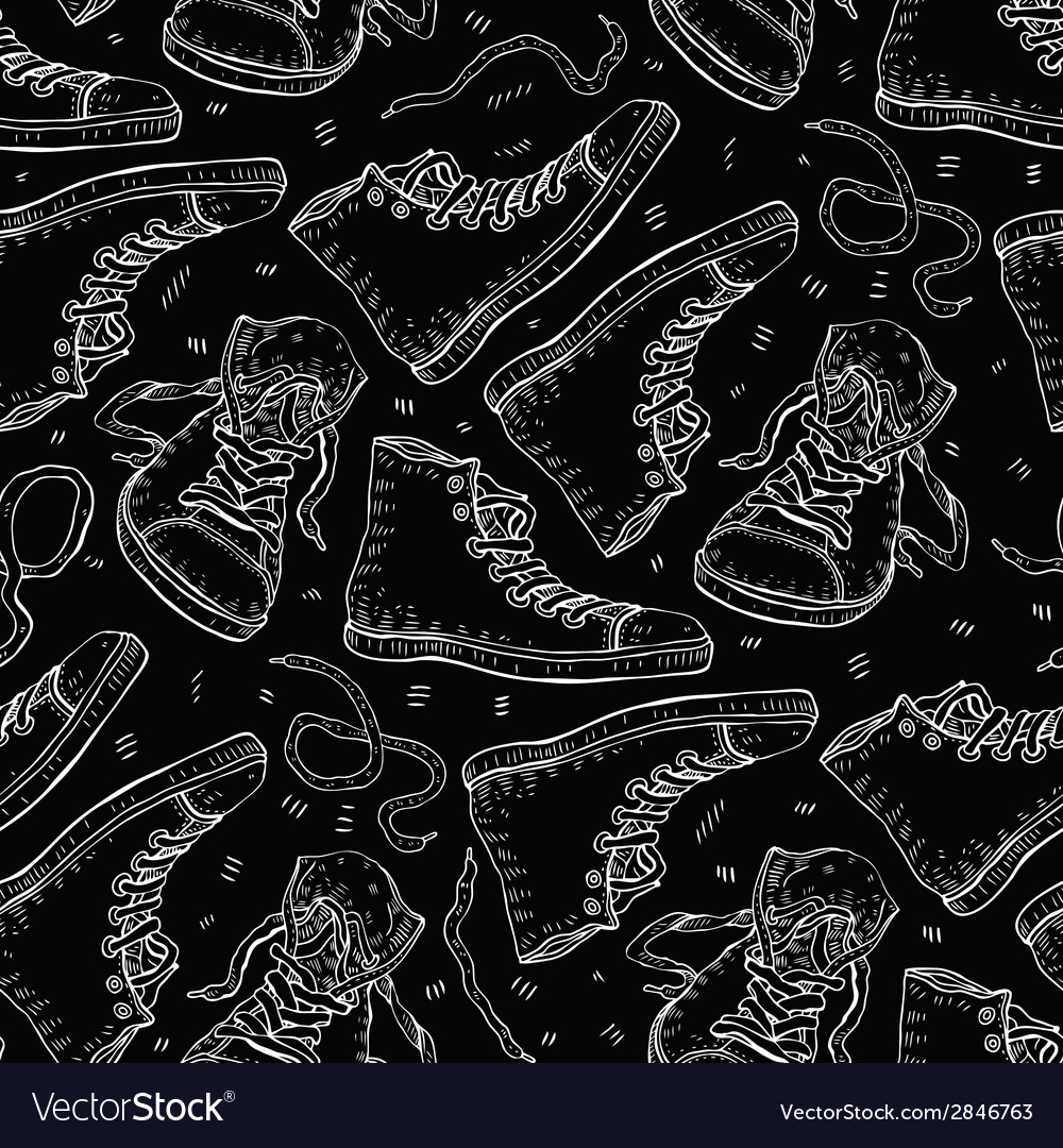 Sneakers Seamless background
