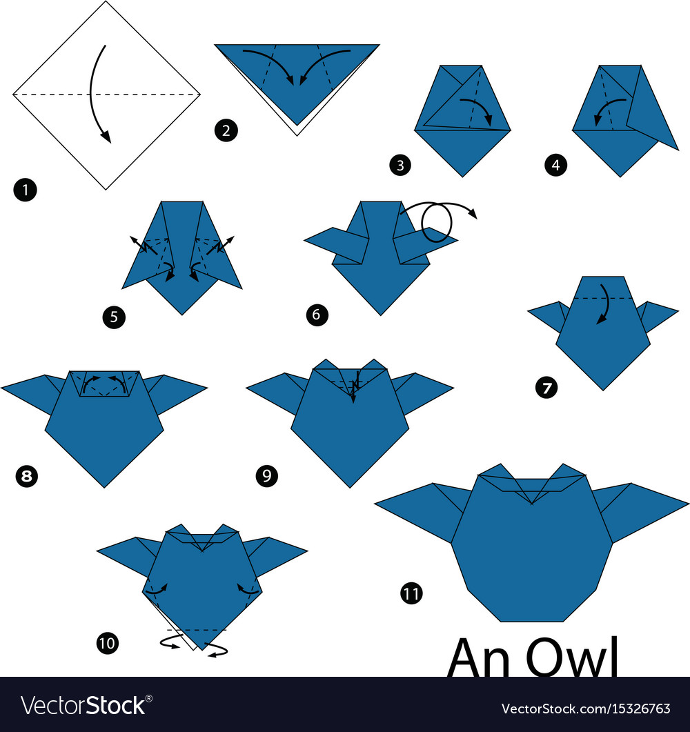 How to Make an Origami Owl (with Pictures) - wikiHow | 1061x1000