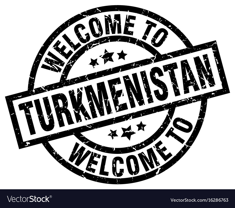 Welcome to turkmenistan black stamp