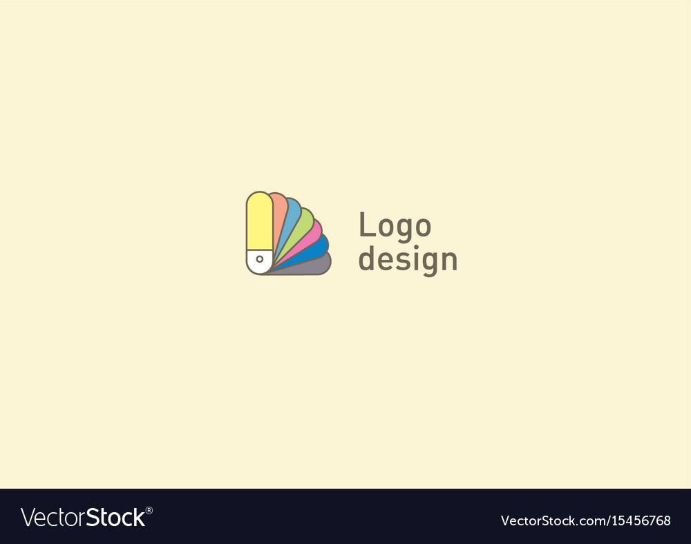 Creative logo or fan icon color palette vector image