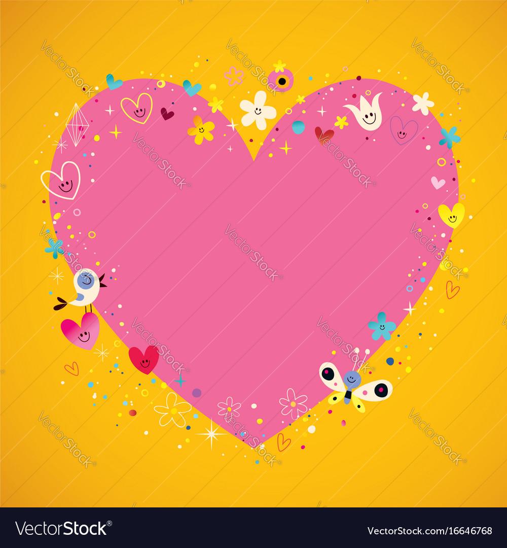 Heart frame banner
