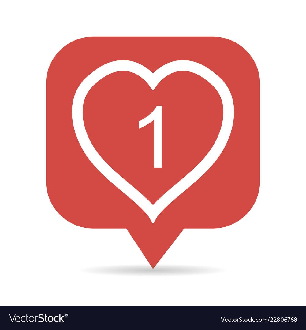 Icon like the heart figure 1 symbol like