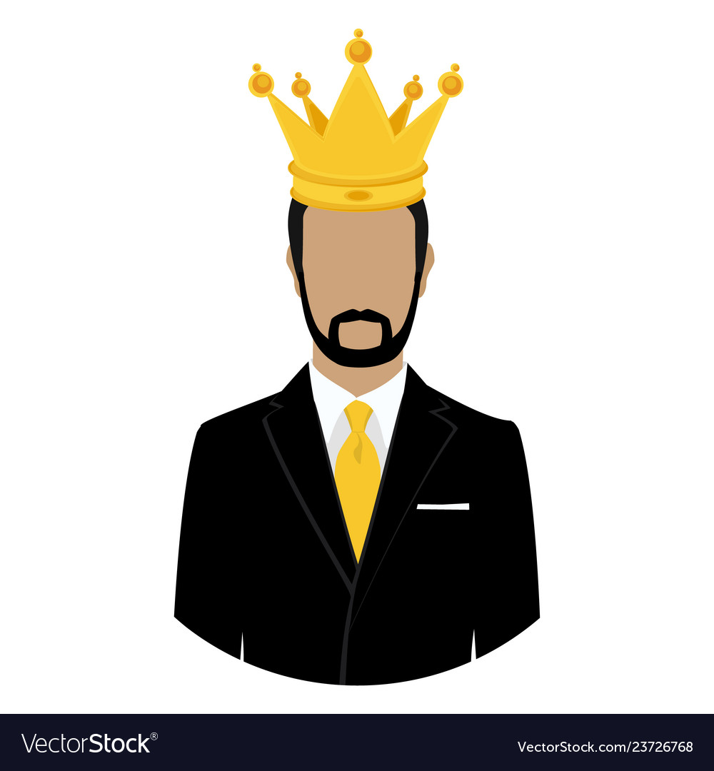Like A King Man Businessman In Crown Isolated On Vector Image Search results for man with crown. vectorstock