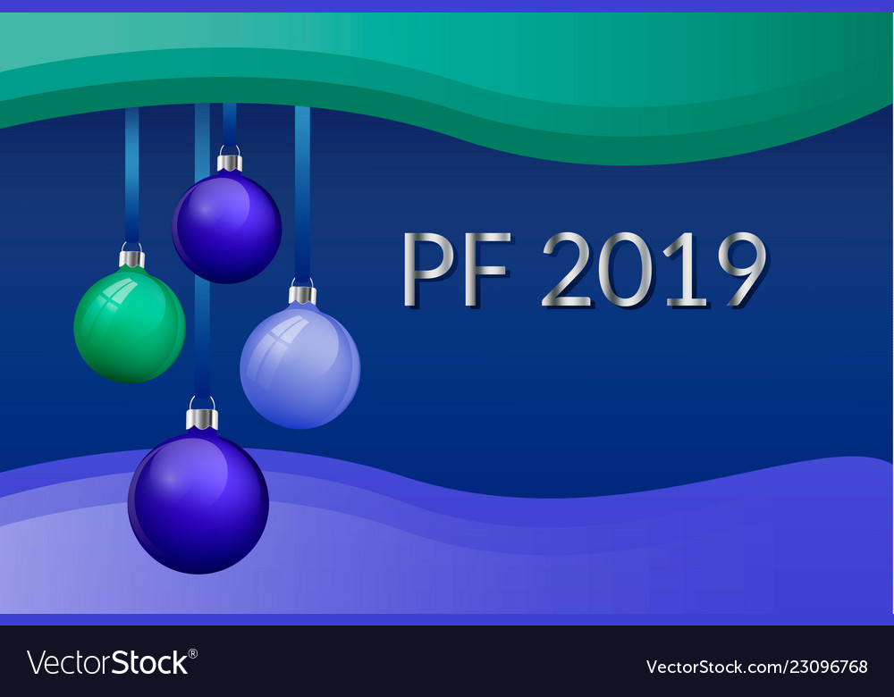 Pf 2019 christmas greeting card design with