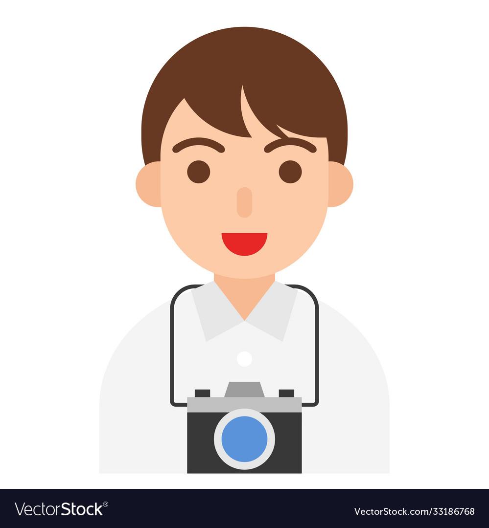 Photographer icon profession and job