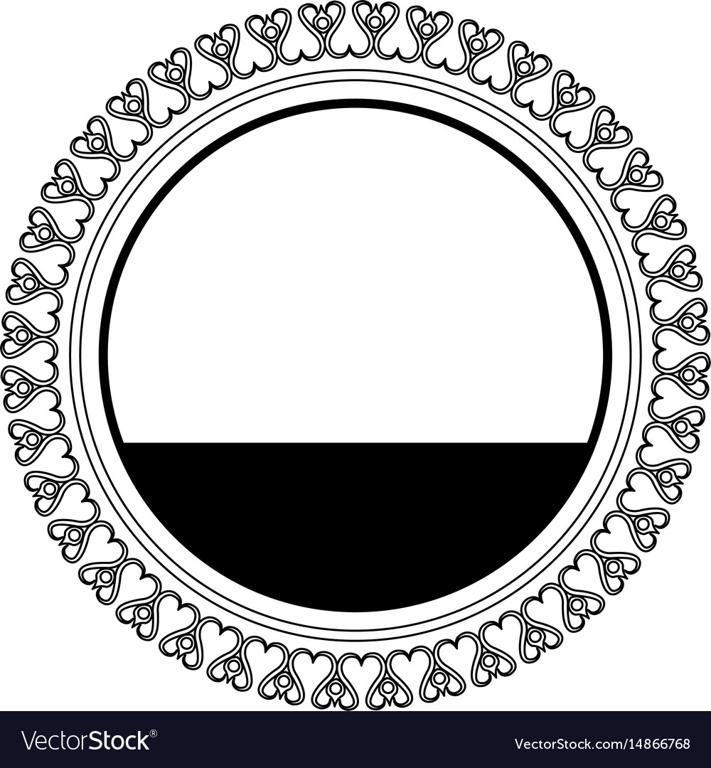 Round decoration stamp flourish element template Vector Image
