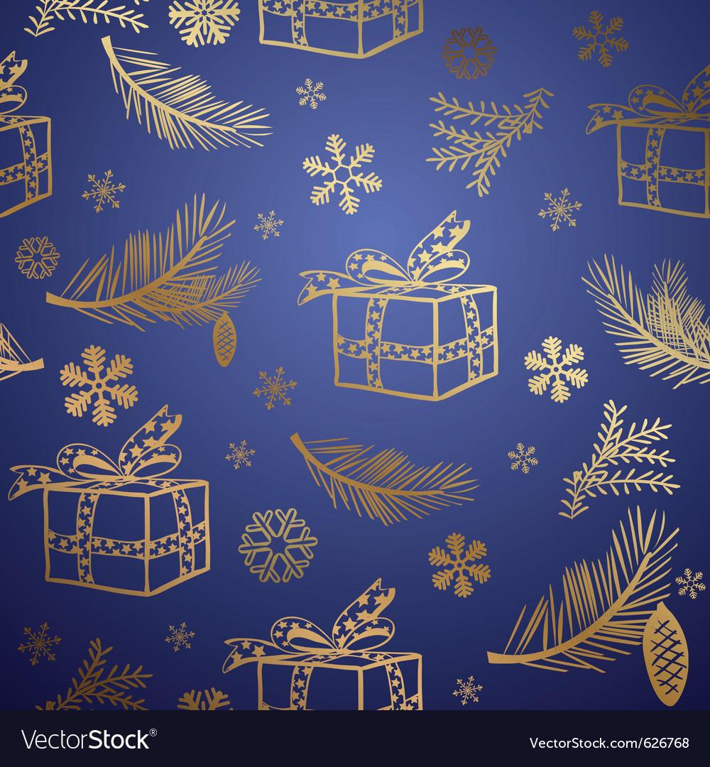 Seamless christmas background design element