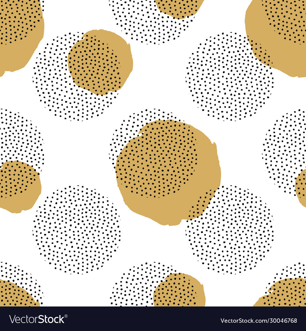 Seamless pattern with round dotted elements and