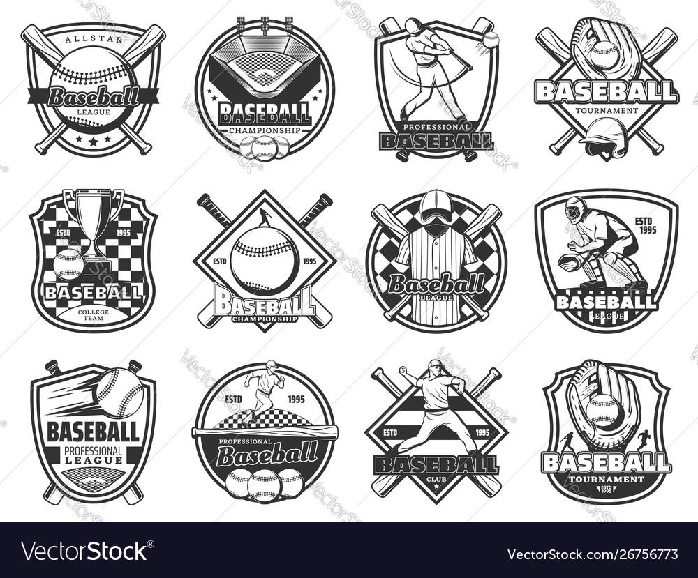 Baseball sport team badge softball league game