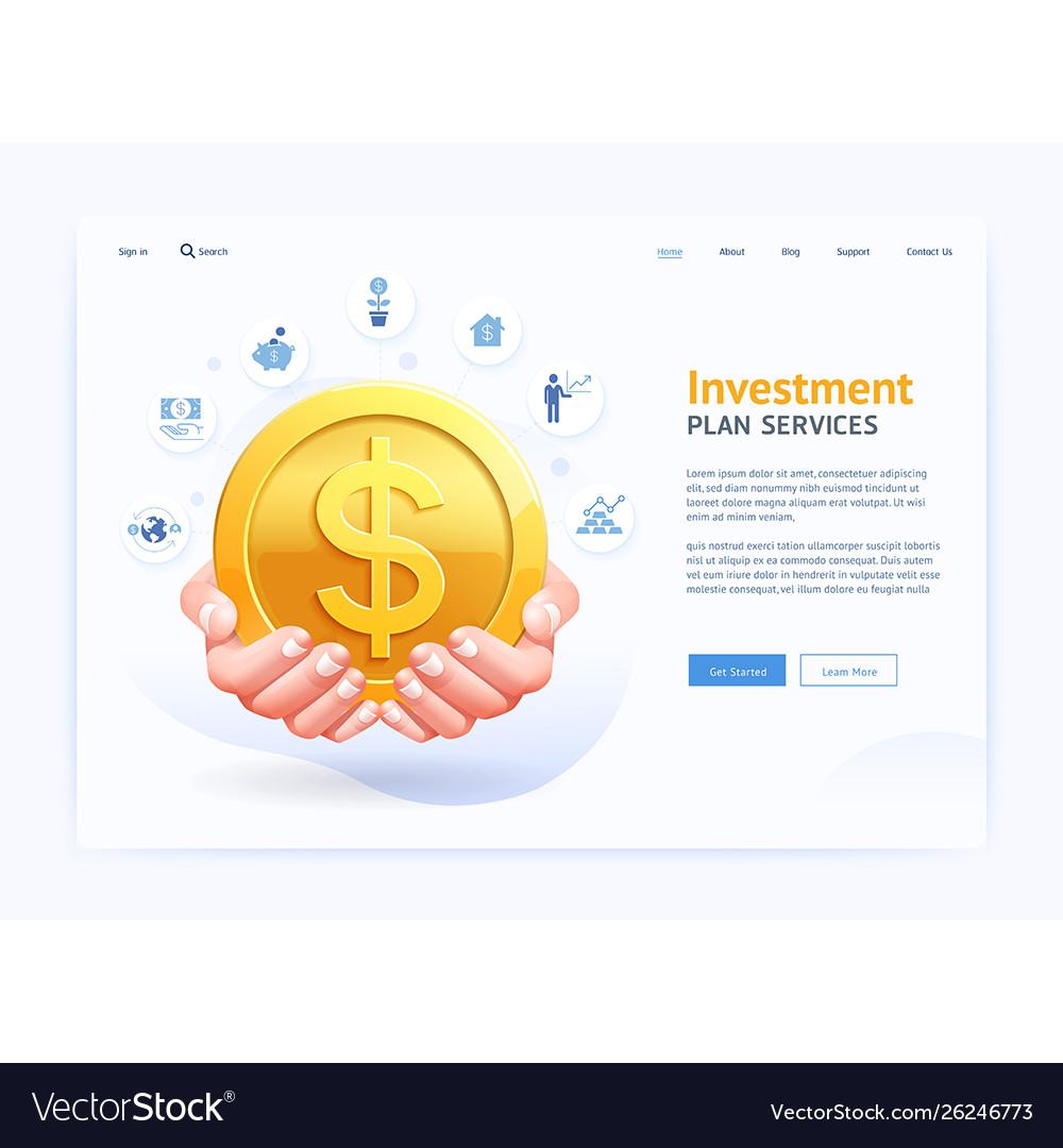 Business digital page website ui design hand