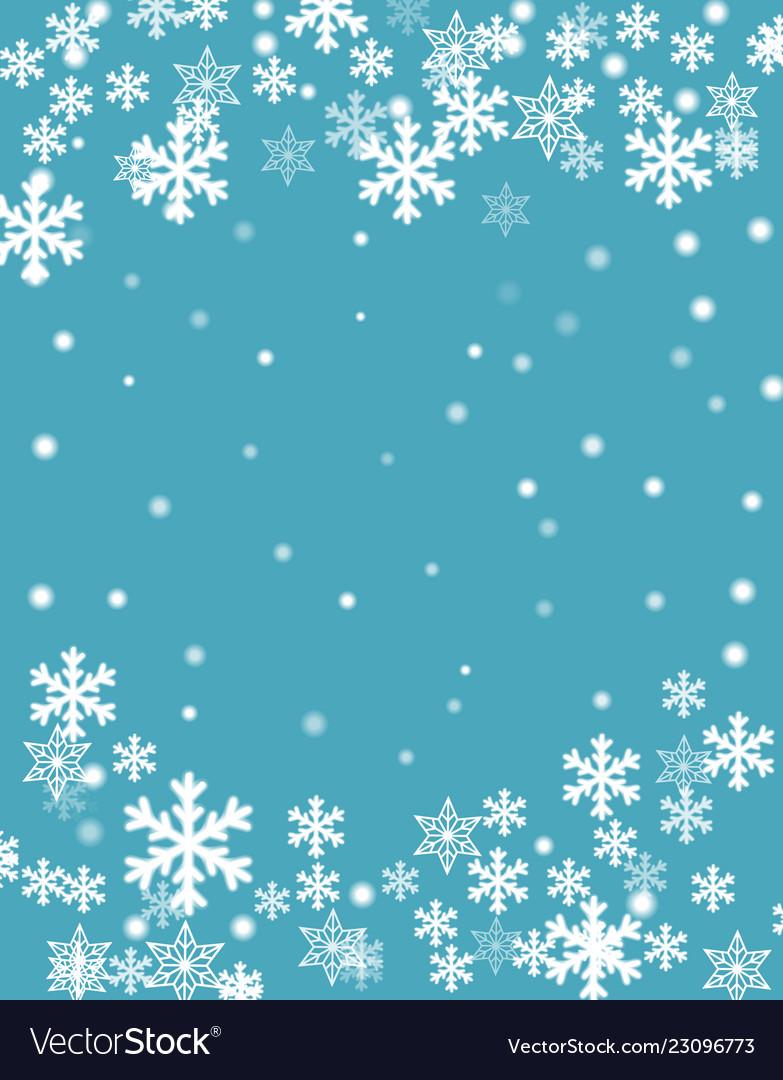 Christmas background blurred white snowflakes