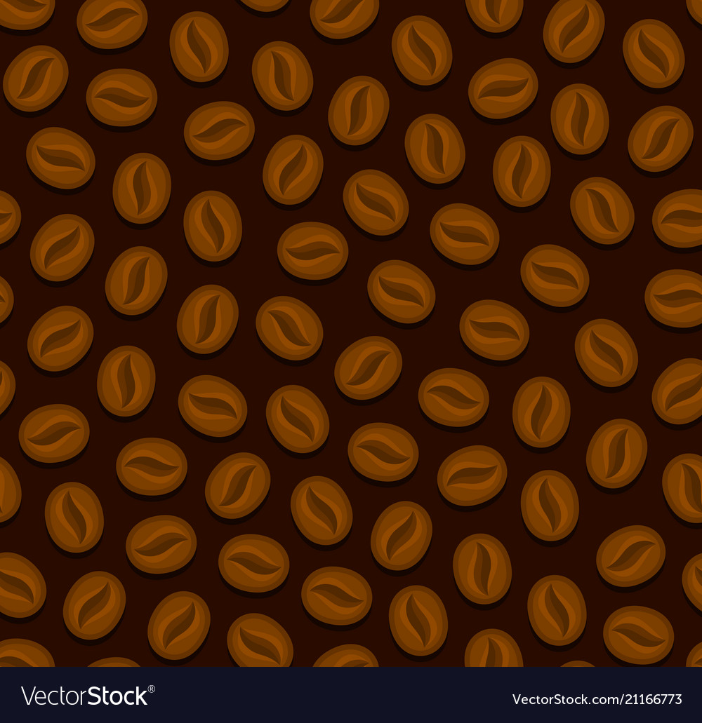 Coffee seamless background with beans