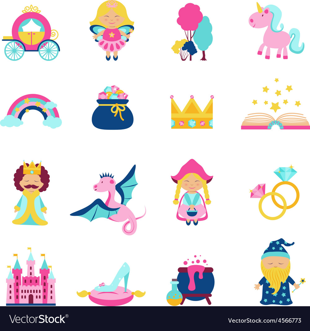 Fairy Tale Set vector image