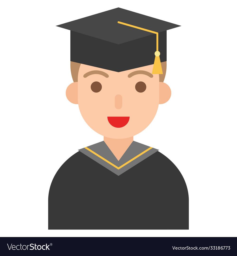 Graduate man icon profession and job