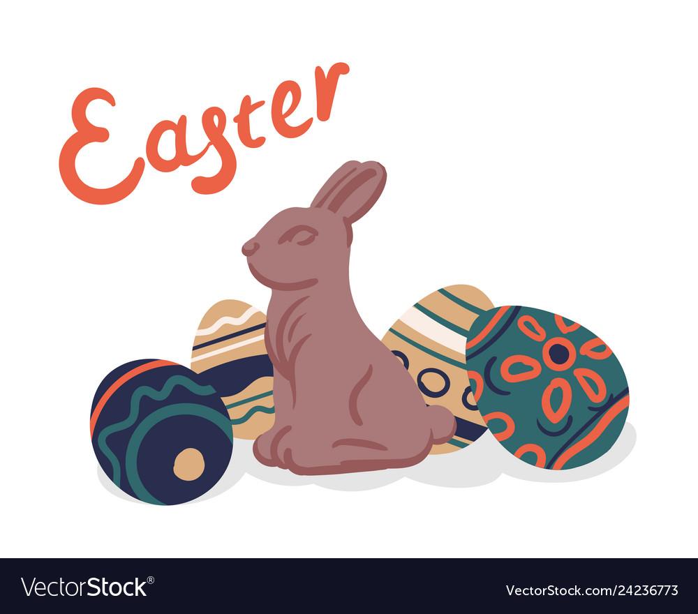 Happy easter eggs celebration