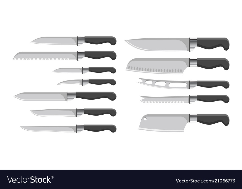 Knives collection kitchenware