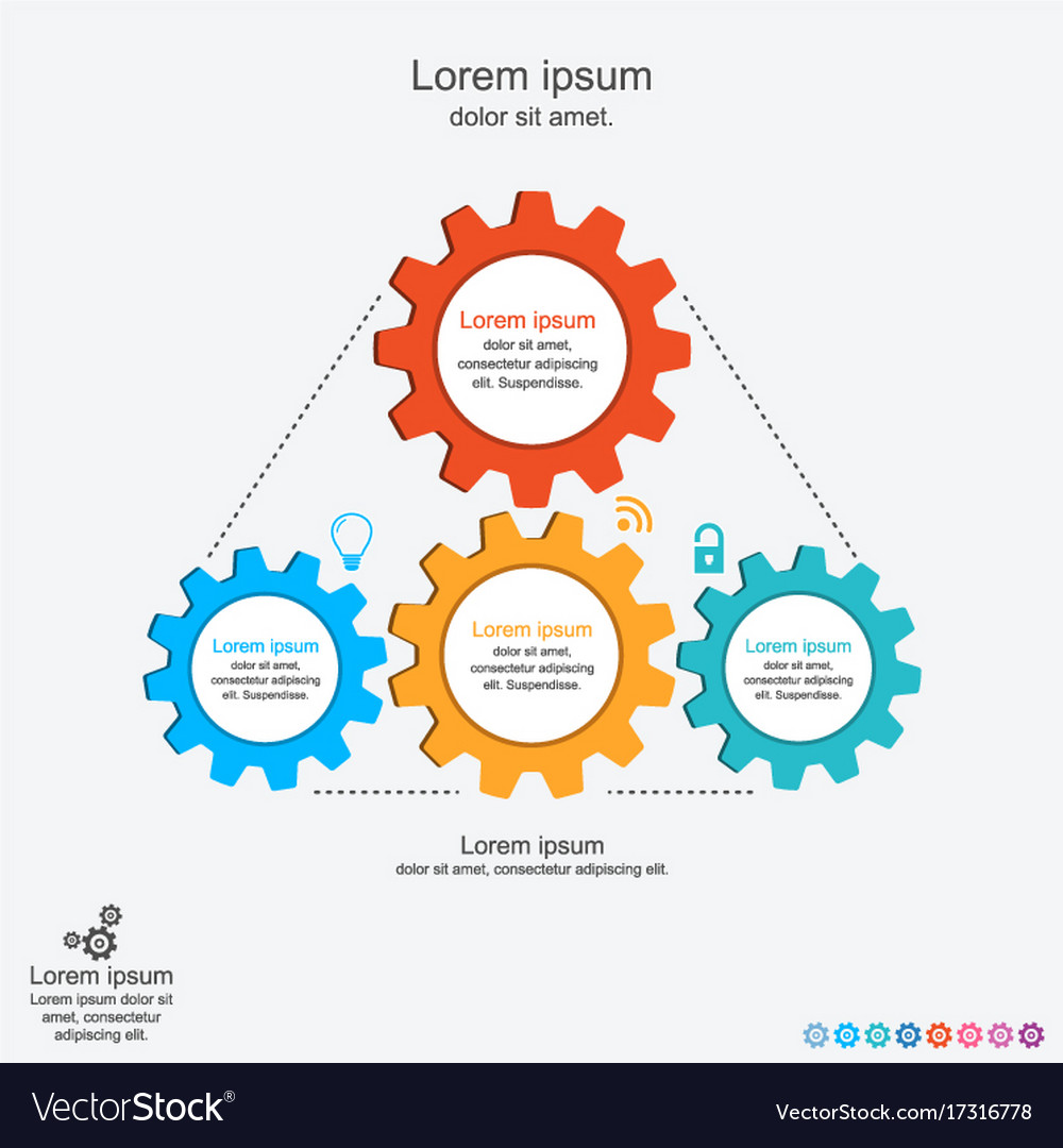 Abstract infographics template with gears