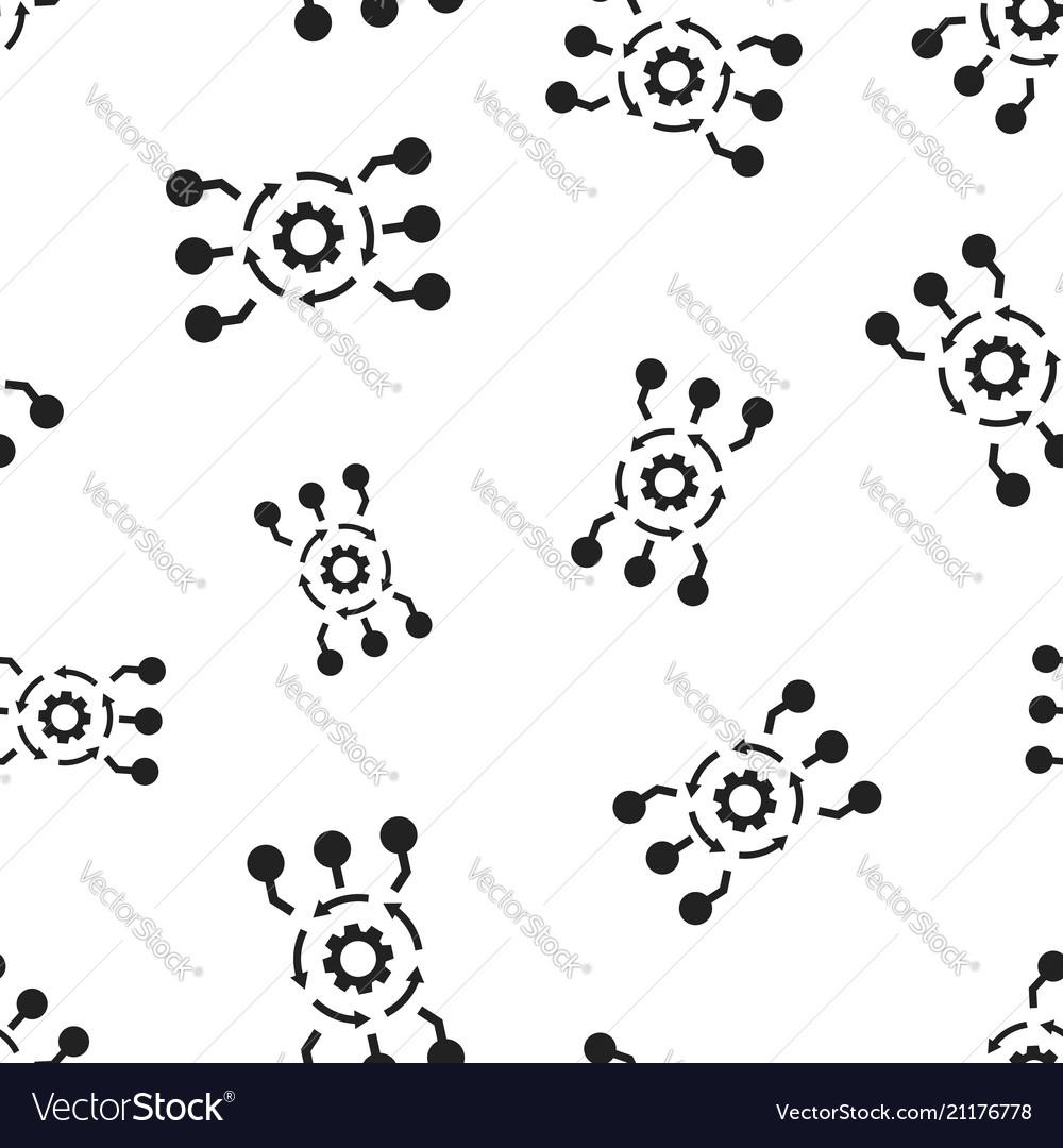 Algorithm api software icon seamless pattern