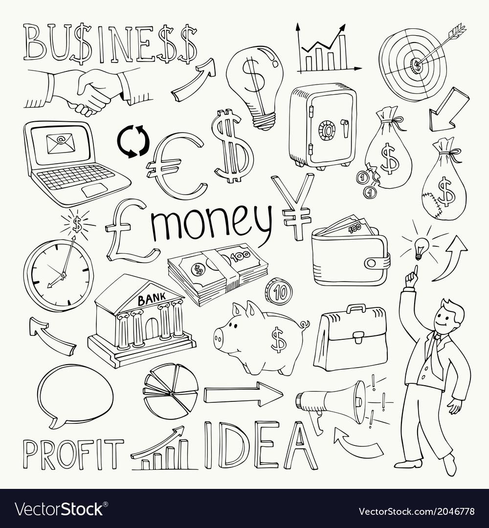 Business doodles hand doodle