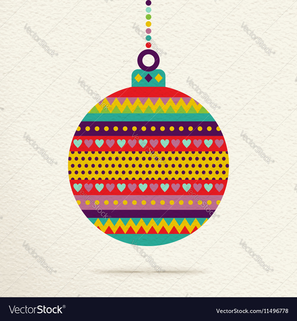 Christmas ornament bauble design in fun colors