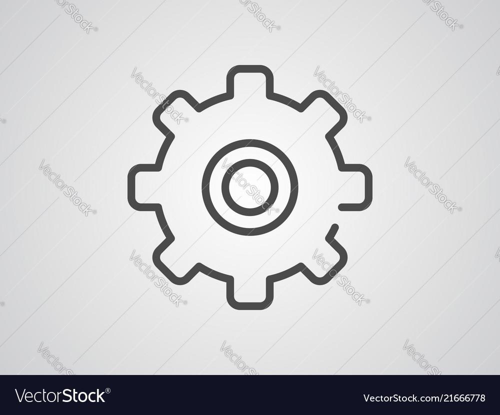 Gear icon sign symbol