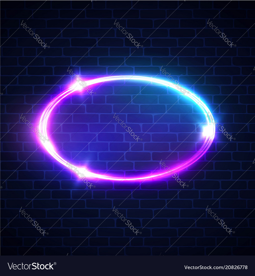 Glowing oval frame night club electric sign