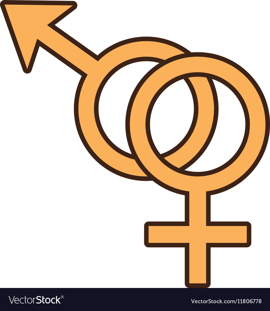 Male and female couple sex symbol