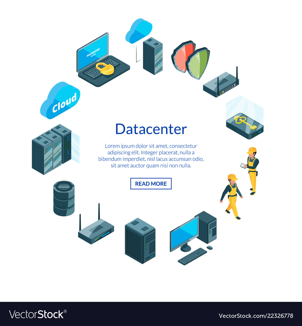 System of data center icons i