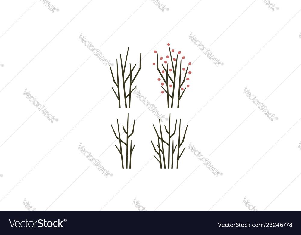 Tree branch logo icon